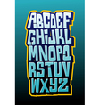 Graffiti comics style letttering font alphabet vector image vector image