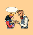 gypsy palmist and hipster vector image vector image
