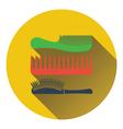 Hairbrush icon vector image