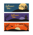 halloween template banners in flat modern style vector image