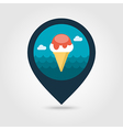 Ice Cream pin map icon Summer Vacation vector image vector image