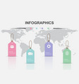 infographic design template with tag vector image vector image