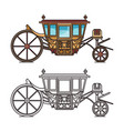 isolated vintage chariot or carriage for wedding vector image vector image