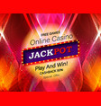 Jackpot advertisement template