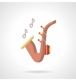 Jazz party flat color icon vector image