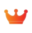 King crown sign Orange applique isolated vector image vector image