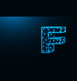 letter f low poly design alphabet abstract vector image vector image
