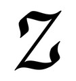 letter z painted brush vector image vector image
