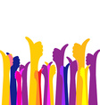 Many likes thumbs up colorful bright background vector image vector image