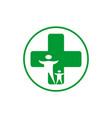 medical family logo icon vector image