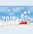 merry christmas 2018 winter vector image