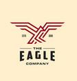 monoline eagle logo vector image vector image