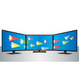 multi smart tv vector image vector image