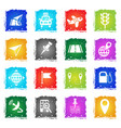 navigation transport map icon set vector image vector image