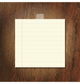 Note Papers On Wooden Background vector image