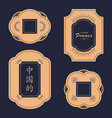 oriental chinese traditional frame set vector image