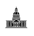 parliament black icon sign on isolated vector image vector image