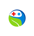 people health care medic cross logo vector image