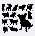 Puppy pet dog silhouette vector image vector image