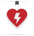 red automated external defibrillator aed vector image vector image