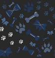 seamless dog paw pattern vector image vector image
