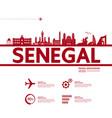 senegal travel destination vector image vector image