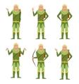 Set of Forest Fantasy Elves vector image vector image
