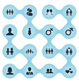 set of simple beloved icons vector image vector image