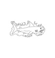 Shark Water Side Drawing vector image vector image