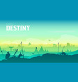 silhouette historical battlefield at sunset design vector image vector image