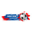 soccer sport game football ball banner vector image vector image