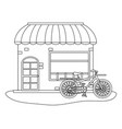 store with bicycle vector image vector image