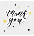 thank you watercolor lettering calligraphy vector image vector image