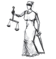 Themis Femida goddess of justice vector image