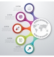 Timeline 3d Infographic vector image