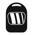 welding helmet icon simple style vector image
