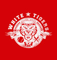 white tigers vector image vector image