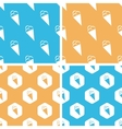 Ice cream pattern set colored vector image