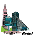 Cleveland vector image