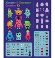 Hipster Monster and Character Creation Kit vector image