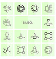 14 symbol icons vector image vector image