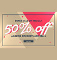 abstract sale voucher banner design template vector image vector image