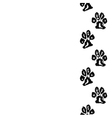 animal footprint seamless border vector image