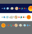 astronomy space solar system infographics vector image