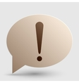 Attention sign Brown gradient icon vector image vector image