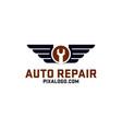 auto wing repair logo