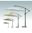 Blank Patio Outdoor Beach Cafe Umbrella Parasol vector image vector image