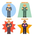 Boss Avatar Happy Surprised Mustache Angry Adult vector image vector image