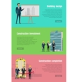 Building Design Construction Investment Completion vector image vector image