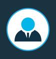 businessman icon colored symbol premium quality vector image